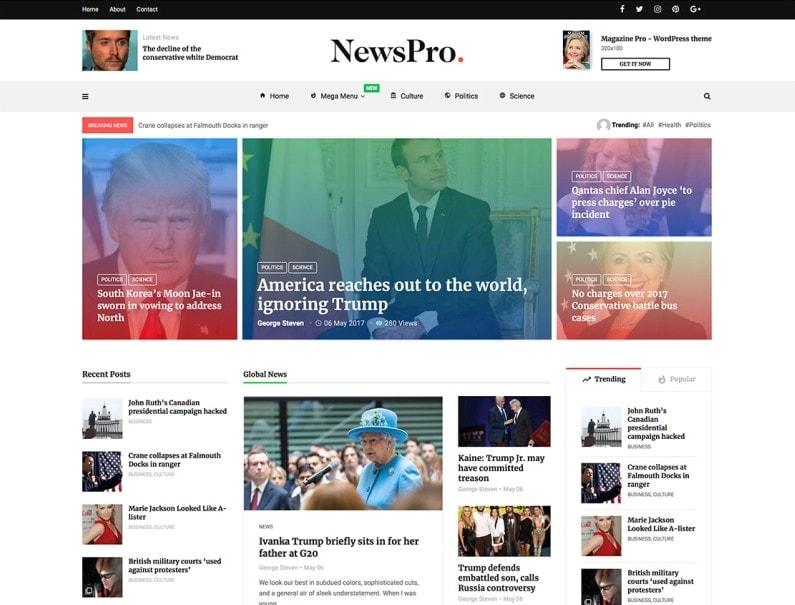 temaWordPress per giornali online
