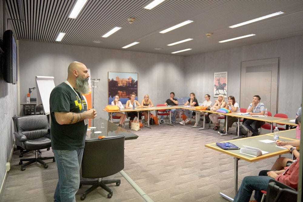 Partecipanti ai workshop al Turin Digital Festival