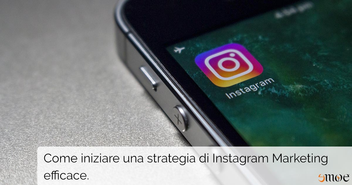 Strategie di Instagram Marketing su smartphone
