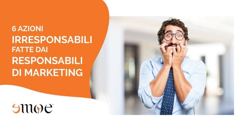 errori di marketing fatti dai responsabili di marketing