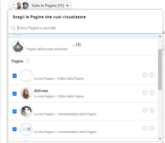 gestione di più pagine con facebook creator studio